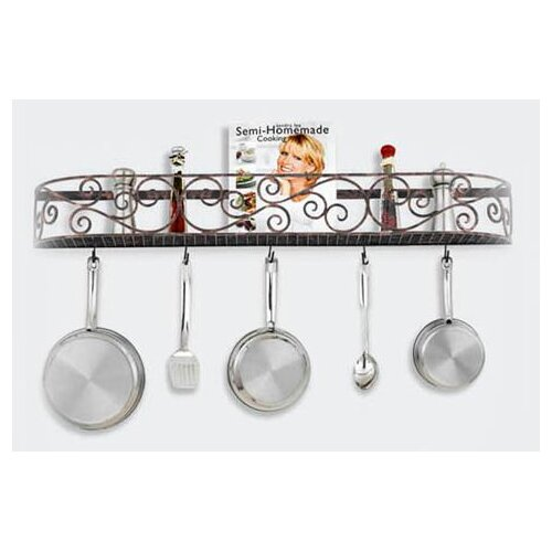 Hi-Lite Authentic Iron Wall Mounted Pot Rack