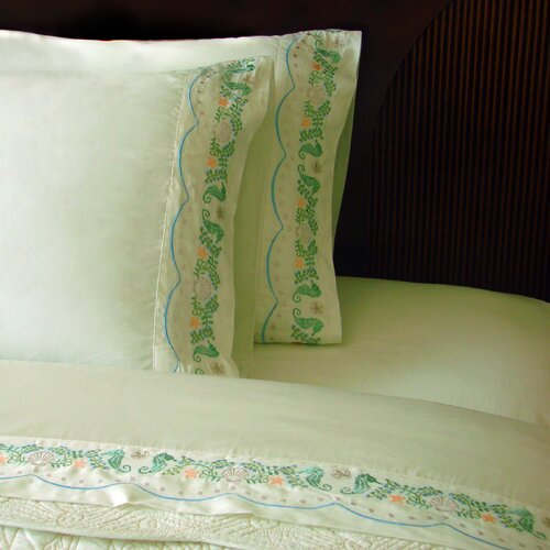 J&J Bedding Sand Dollar 400 Thread Count Sheet Set