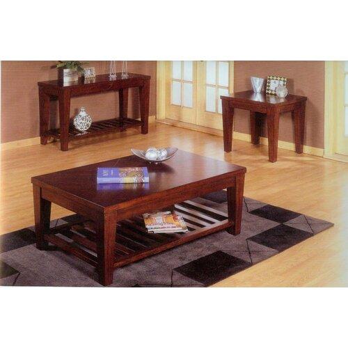 Alpine Furniture Livingston Coffee Table with Shelf