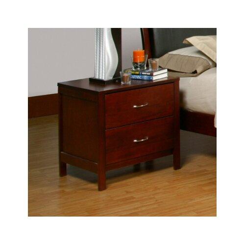 Newport 2 Drawer Nightstand