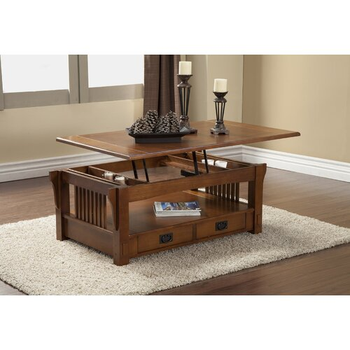 Alpine Furniture Coffee Table With Lift Top Storage Reviews Wayfair