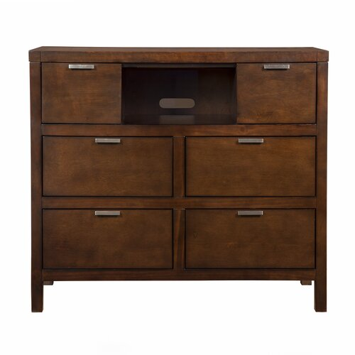 Alpine Furniture Carmel 6 Drawer Media Chest