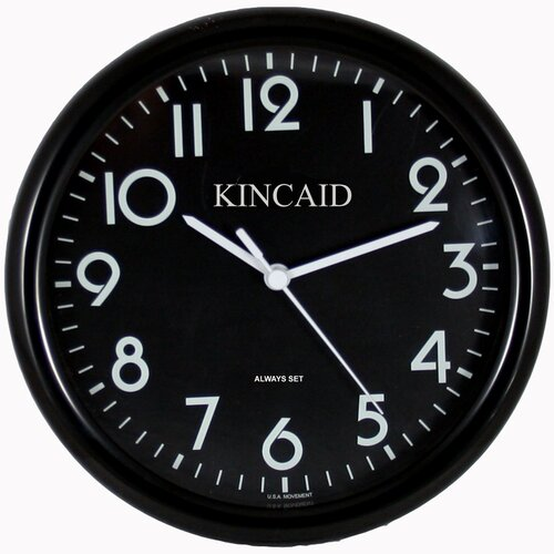 "Kincaid Clocks 10"" Always Set Wall Clock"