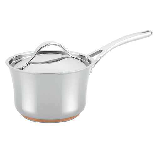 Nouvelle Copper 3.5-qt. Covered Saucepan with Lid