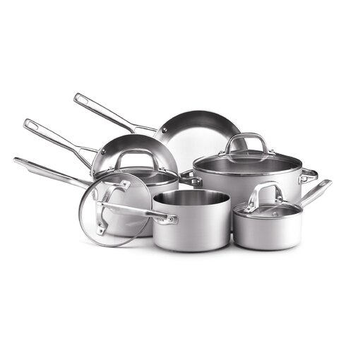 Chef Clad Stainless Steel 10-Piece Cookware Set
