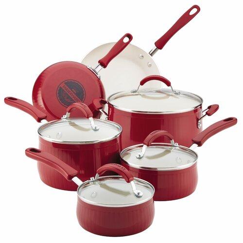 New Traditions Aluminum Nonstick 14-Piece Cookware Set