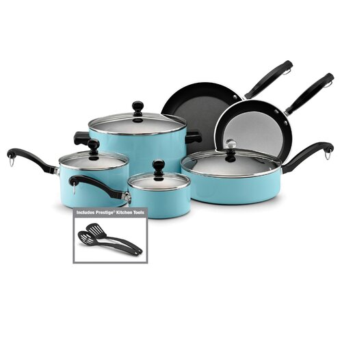 Farberware Porcelain Nonstick Aluminum 12-Piece Cookware Set