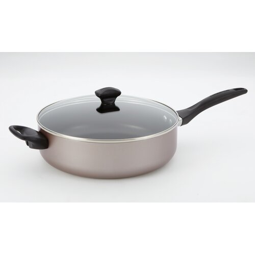 Farberware Aluminum Dishwasher Safe 5-qt. Chef's Saute Pan with Lid
