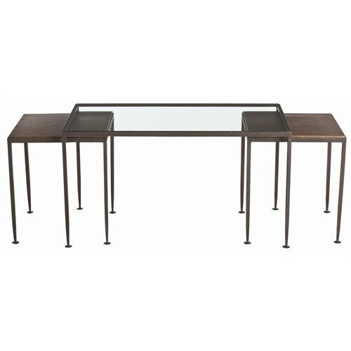 Knight Waxed Hammered Iron Nesting Cocktail Tables