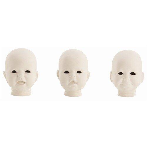 3 Piece Snoki Doll Head Bust