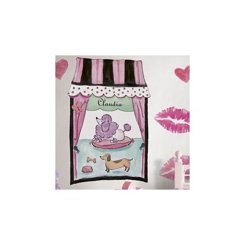 4 Walls French Poodle Window Wall Decal
