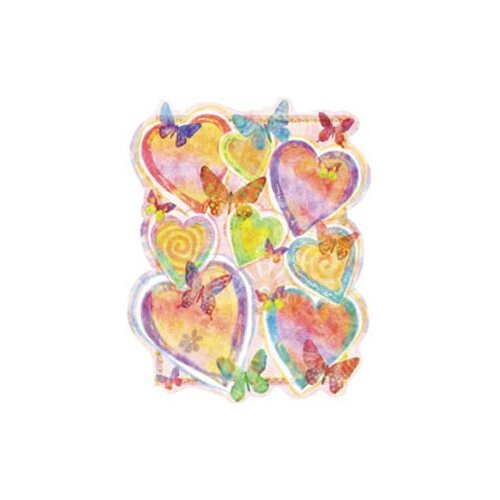 4 Walls Pastel Hearts Wall Decal