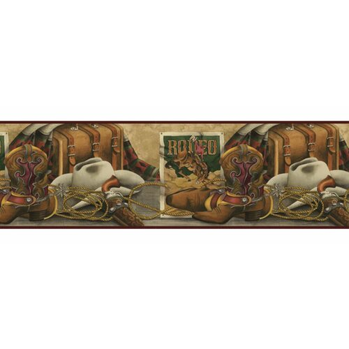 4 Walls Lodge Décor Western Still Life Border Wallpaper