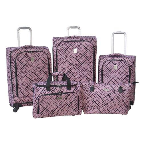Brush Strokes 360 Quattro 5 Piece Luggage Set