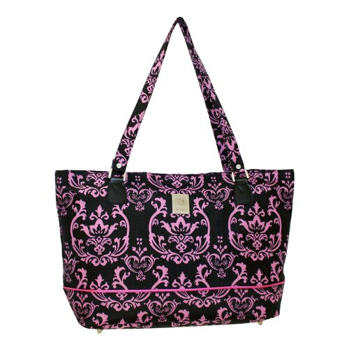 Damask Computer Tote Bag
