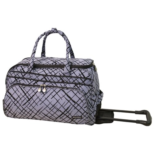"Jenni Chan Brush Strokes 20"" 2 Wheeled Carry-On Duffel"