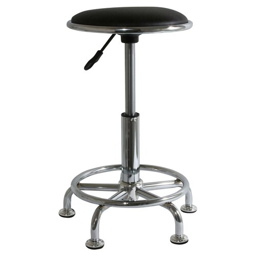 Buffalo Tools Height  Adjustable AmeriHome 2 Piece Undersized Stool with Low Profile Seat and Caster Set