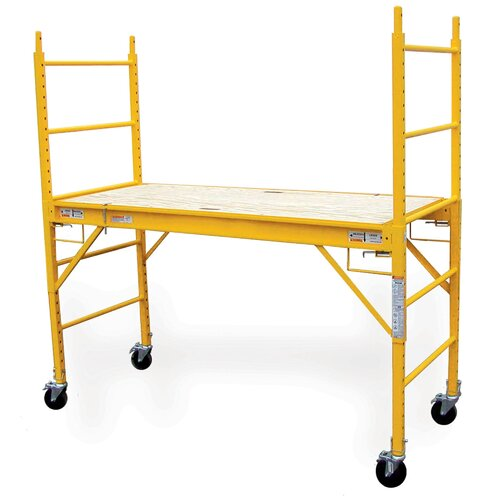 Buffalo Tools 6.5' H x 6.4' W x 2.5' D Multi Purpose Scaffolding System