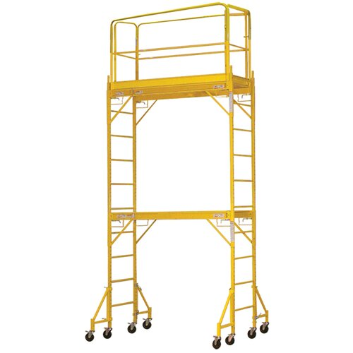 Buffalo Tools 15.8' H x 2.5' W x 6.4' D Wide Interior Tower Scaffolding System