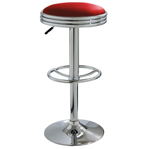 "Buffalo Tools AmeriHome 23.5"" Adjustable Swivel Bar Stool with Cushion"
