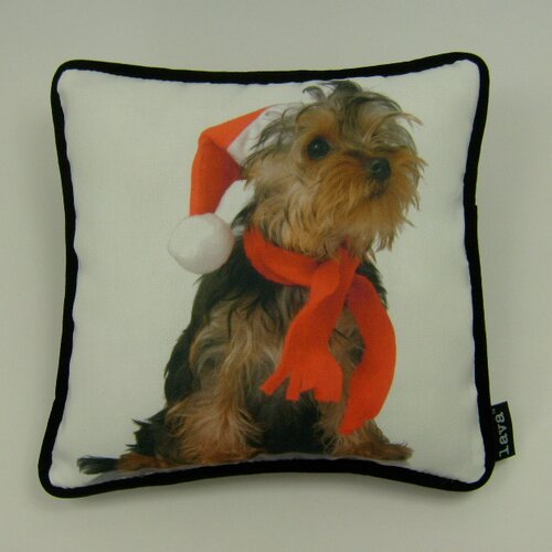 lava Lava Holiday Yorkie Pillow