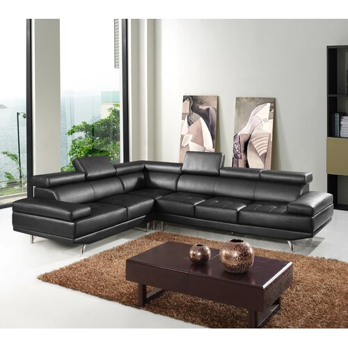 Hokku Designs Oshkosh Leather Sectional