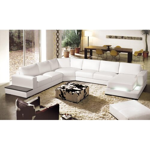 Hokku Designs Nelson House Leather Sectional