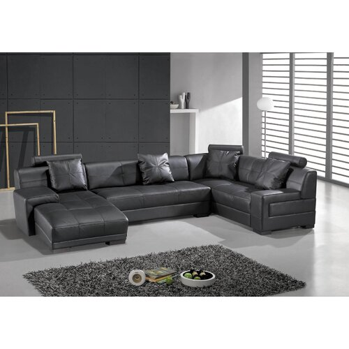 Hokku Designs Houston Left Leather Sectional