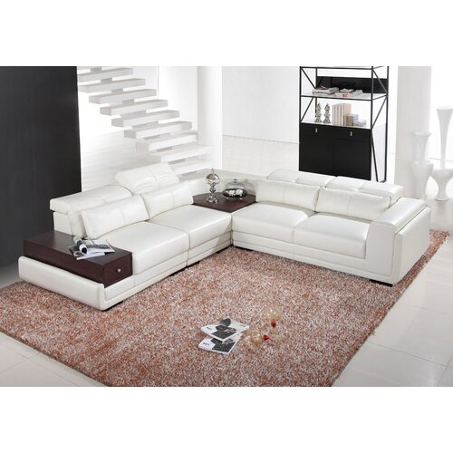 Hokku Designs Mankato Leather Sectional