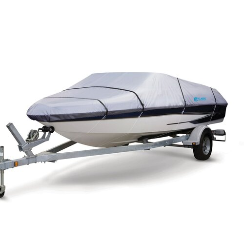 Classic Accessories Silver Max Trailerable Boat Cover