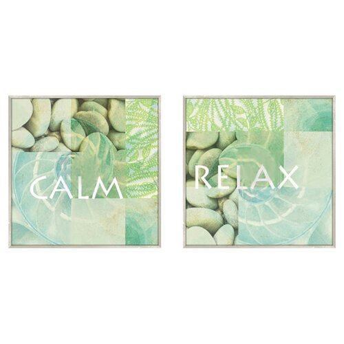 Pro Tour Memorabilia Calm and Relax 2 Piece Framed Graphic Art Set
