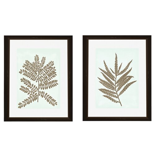 Pro Tour Memorabilia Leaves Silhoutte 2 Piece Framed Graphic Art Set