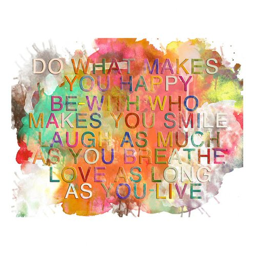 Colorful Quote Graphic Art on Canvas