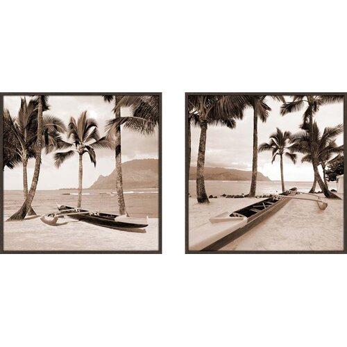 Paradise Found 2 Piece Framed Photographic Print Set