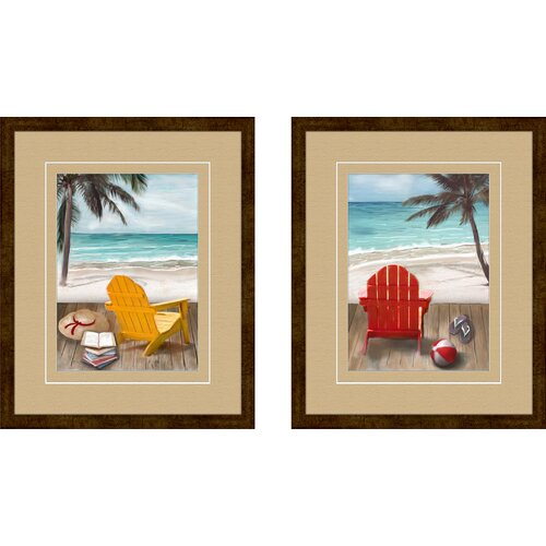 Pro Tour Memorabilia Sunny Afternoon 2 Piece Framed Painting Print Set
