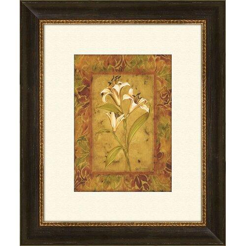 Garden Lilies B Framed Graphic Art