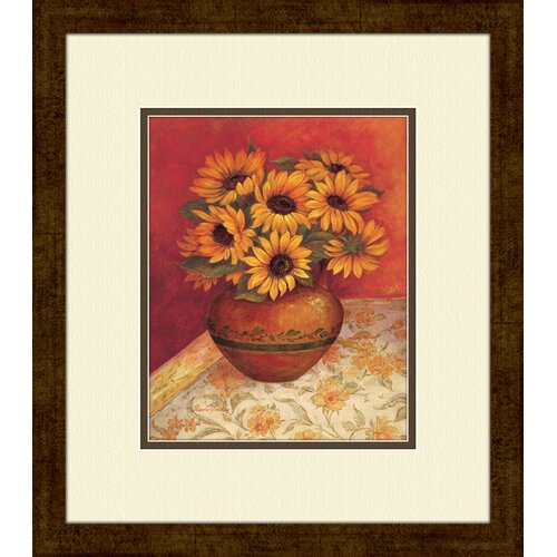 Pro Tour Memorabilia Tuscan Sunflowers A Framed Painting Print