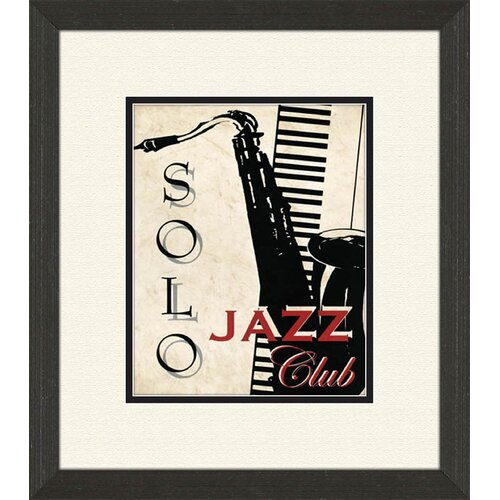 Pro Tour Memorabilia Piano and Jazz Club B Framed Vintage Advertisement