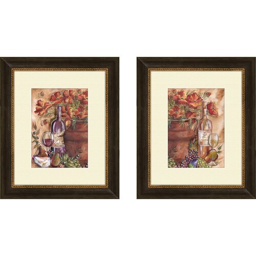 Pro Tour Memorabilia Kitchen Papavieri Rossi 2 Piece Framed Graphic Art Set