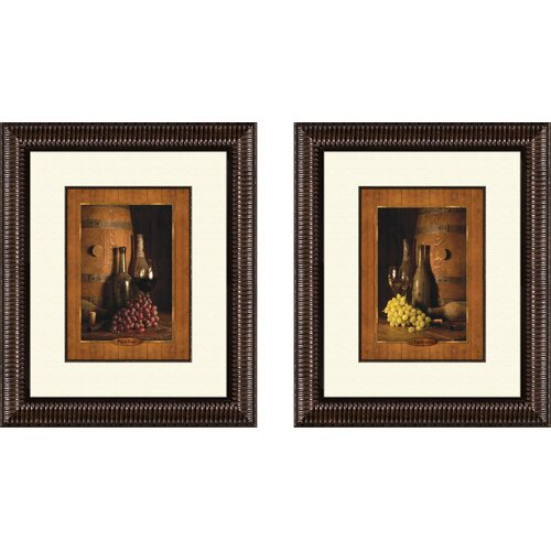 Pro Tour Memorabilia Kitchen Vineyard Tour 2 Piece Framed Painting Print Set