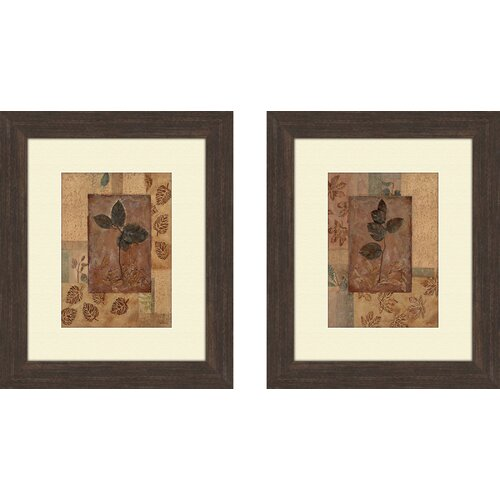 Botanical Fall Foliage 2 Piece Framed Graphic Art Set