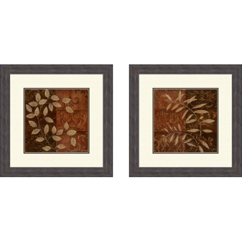 Botanical Autumn 2 Piece Framed Painting Print Set