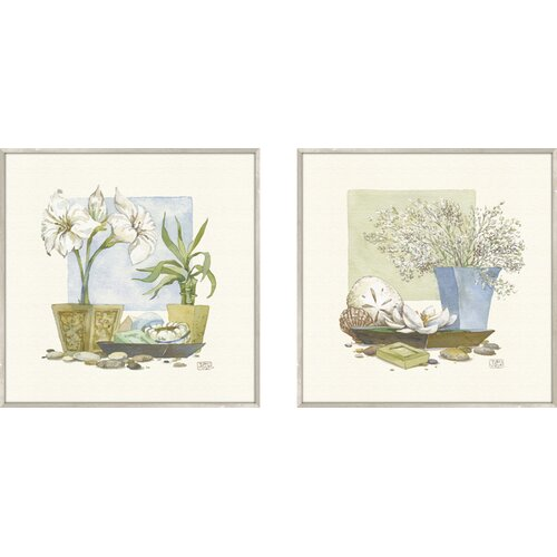 Pro Tour Memorabilia Bath Beach Spa Delight 2 Piece Framed Painting Print Set