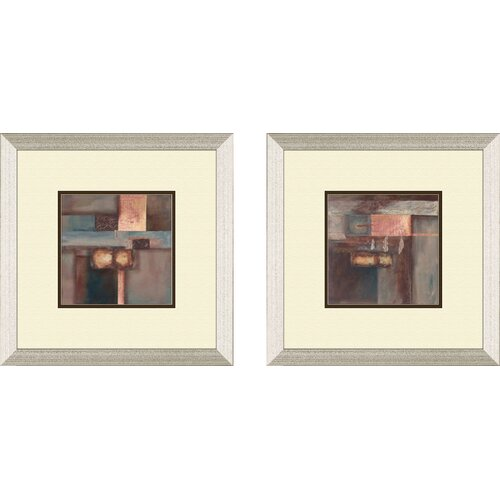 Contemporary Fall 2 Piece Framed Painting Print Set