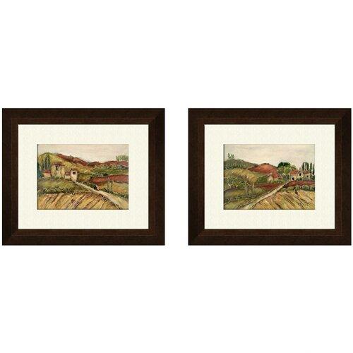 Pro Tour Memorabilia Tuscany B 2 Piece Framed Painting Print Set