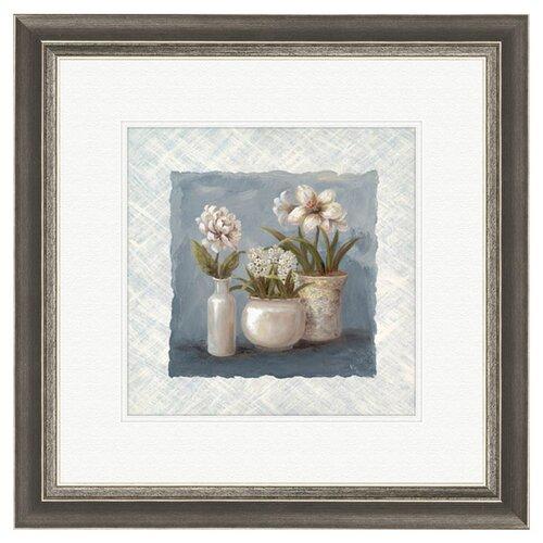 Pro Tour Memorabilia Floral 2 Piece Framed Painting Print Set