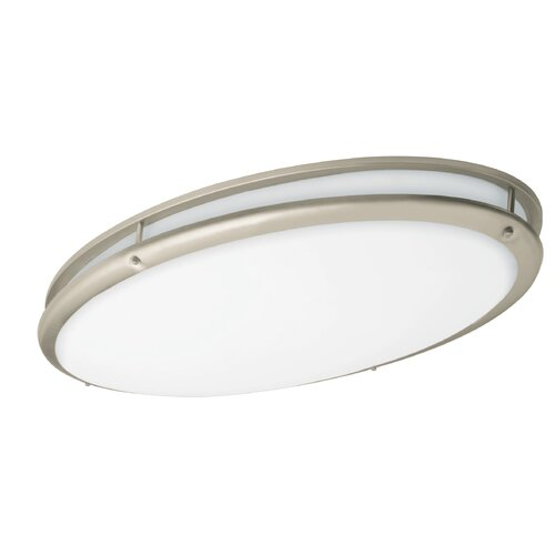 AFX Contemporary 2 Light Oval Flush Mount