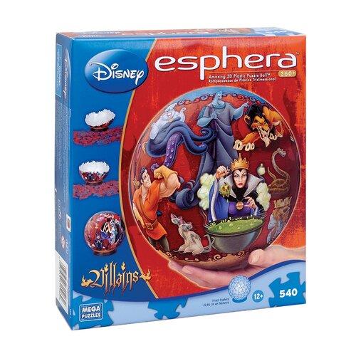 Mega Brands 540 Piece Disney Esphera Globe Villains Puzzle
