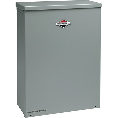 Briggs & Stratton 20 Kw Air-Cooled 200 Amp Single Phase 120/240 V Natural Gas Propane Standby Generator with Service Entrance Disconnect in Steel Enclosure