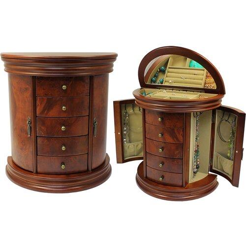 Seya Inc. Round Queen Anne Jewelry Box